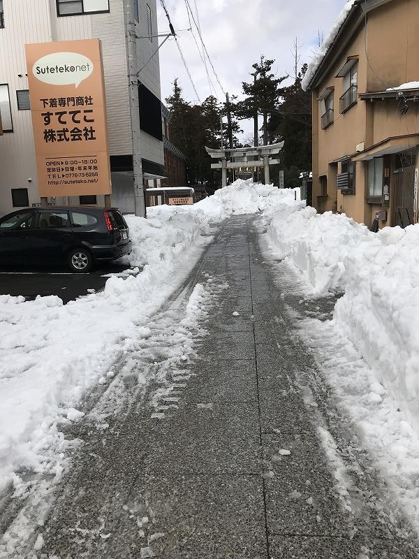 福井県での大雪状況。