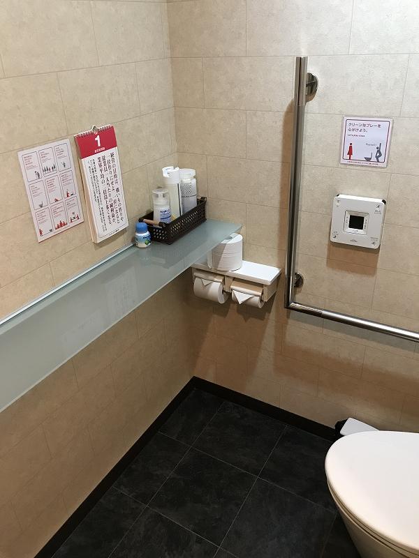 会社のトイレにランチェスター経営戦略カレンダーを設置