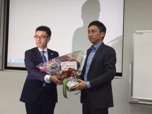 ユニフォームネクスト横井社長上場承認おめでとう