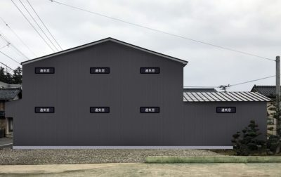 あわら市十日区の物流倉庫のフルリニューアル