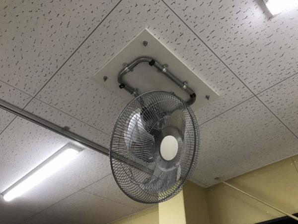 すててこ株式会社 物流倉庫 天井取付 扇風機